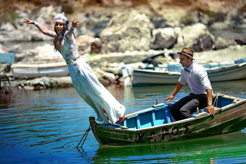 Ρομαντικός γάμος στην Κίμωλο-Fotografisi sthn kimolo