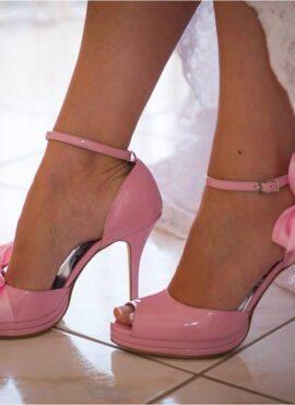 Ροζ νυφικό παπουτσι Thomas Shoes