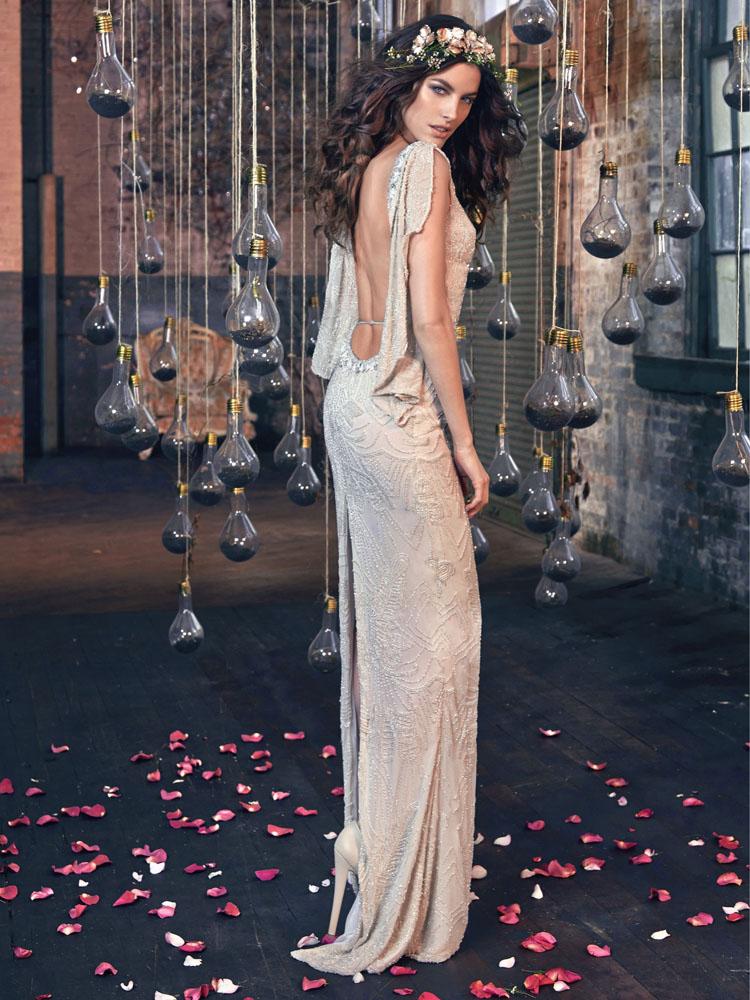 Gemma-Μποέμ στυλ νυφικού φορέματος άνοιξη 2016