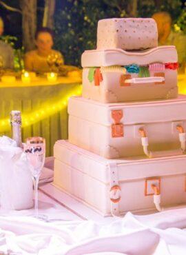 Γαμηλια τούρτα βαλίτσα